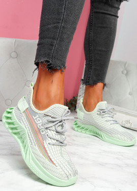 Hazy Green Sport Trainers