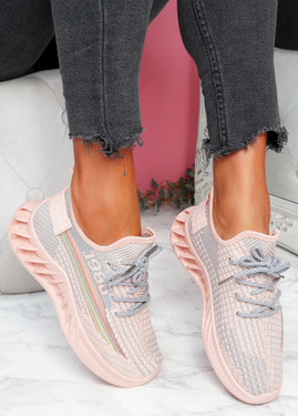 Hazy Pink Sport Trainers