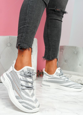 Paga Grey Knit Trainers