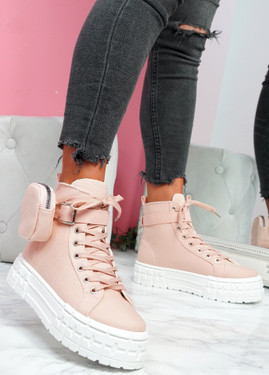 Bony Pink Flatform Trainers