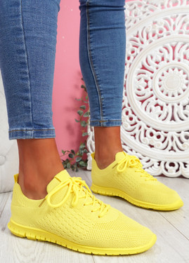 Fego Yellow Running Sneakers