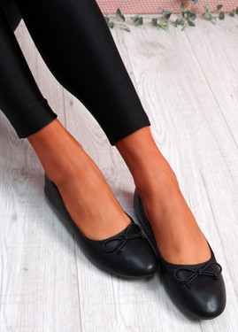 Nimey Black Bow Flat Ballerinas