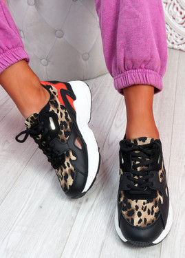 Yusa Leopard Chunky Sneakers