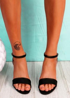Gimmy Black Block Heel Sandals