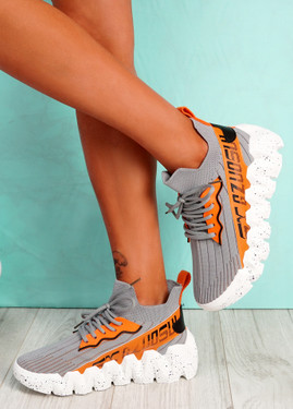 Manna Grey Chunky Sneakers