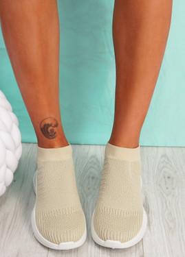 Girro Beige Sock Sneakers