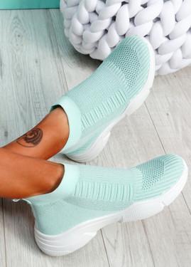 Girro Light Blue Sock Sneakers