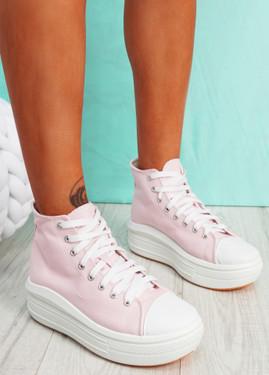 Banna Pink Flatform Trainers
