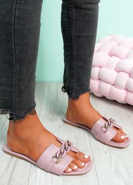 Trinna Purple Front Chain Sandals