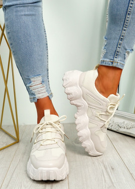 Lanny Beige Chunky Sport Trainers