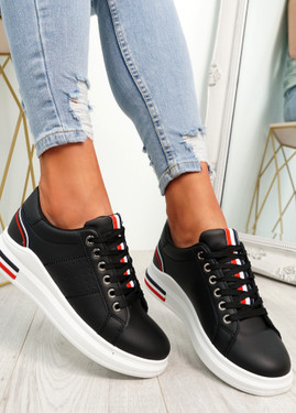 Gevy Black Lace Up Trainers