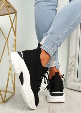 Geny Black Chunky Sneakers