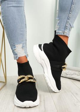 Sanny Black Sock Sneakers