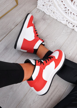 Magge Red High Top Trainers