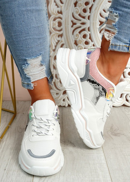 Vunny Pink Snake Trainers