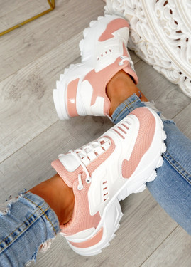 Revi Pink Chunky Trainers