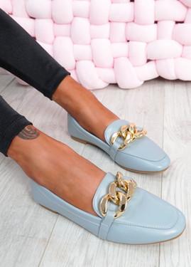 Darcie Blue Flat Ballerinas