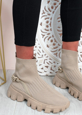 Lachlan Khaki Sock Sneakers