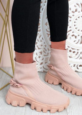 Lachlan Pink Sock Sneakers