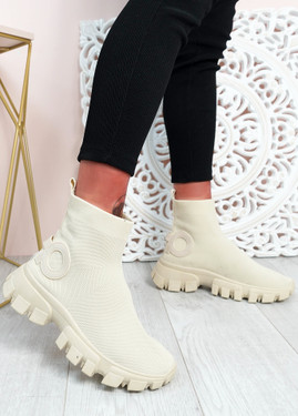 Polly Apricot Sock Sneakers