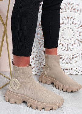 Polly Khaki Sock Sneakers