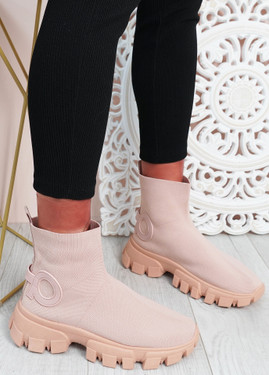 Polly Pink Sock Sneakers