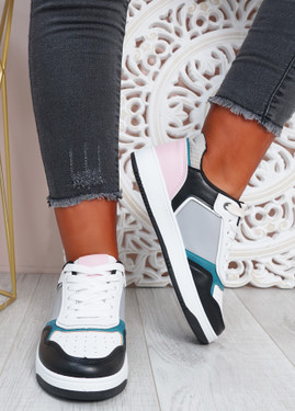 Saskia Black Pink Sport Sneakers