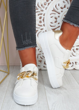 Rita Beige Flatform Sneakers
