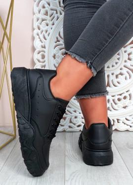 Alannah All Black Flatform Sneakers