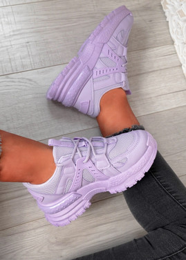 Mary Purple Chunky Sneakers