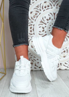 Mary White Chunky Sneakers