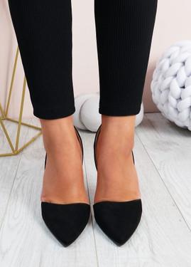Emelia Black High Heels Stiletto Shoes