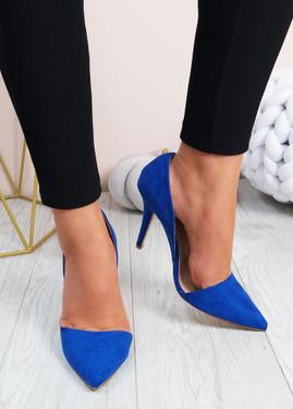 Emelia Blue High Heels Stiletto Shoes