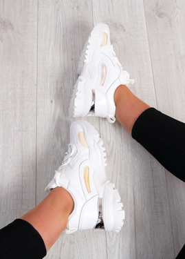 Luther White Chunky Trainers