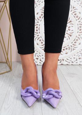 Antonia Purple High Heels Chain Shoes