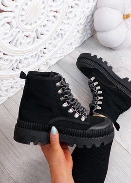 Connie Black Chunky Trainers