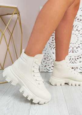 Anisa Apricot Ankle Chunky Boots