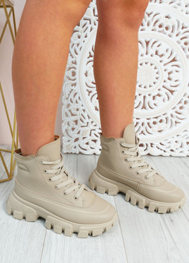 Anisa Camel Ankle Chunky Boots