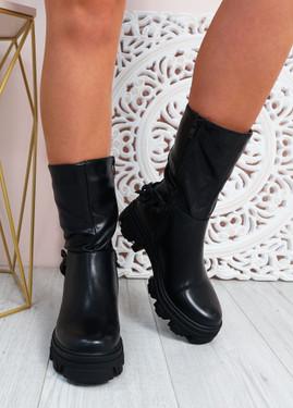Paige Black Mid Calf Boots