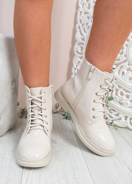 Rebecca Beige Ankle Boots