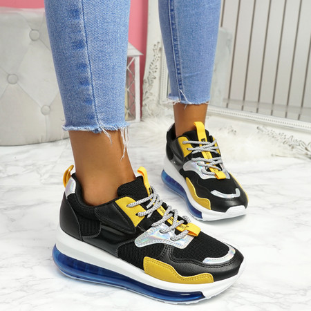 Rety Black Clear Sole Trainers