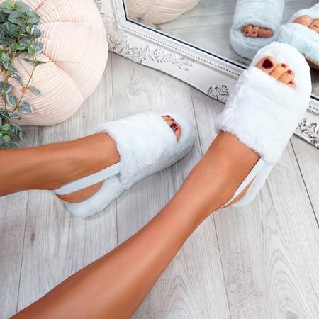 Namma Sky Blue Fluffy Sandals