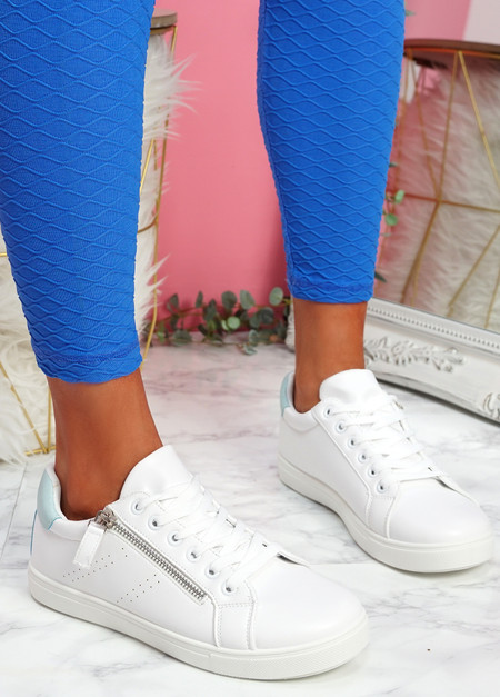 Lopy Blue White Lace Up Trainers