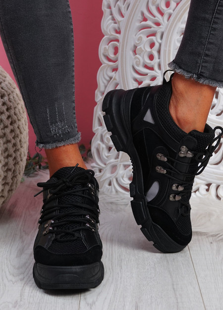 Kipe Black Chunky Trainers