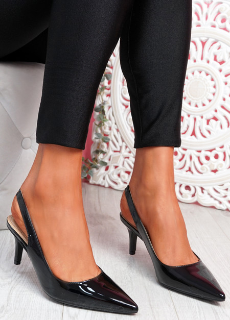 Inso Black Sling Back Stiletto Pumps