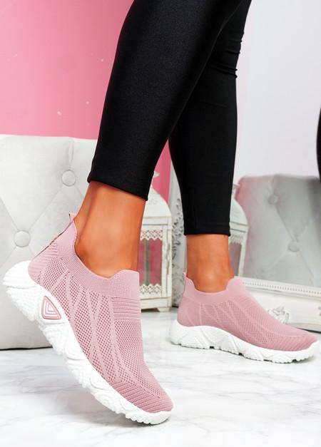 Komy Pink Slip On Sneakers