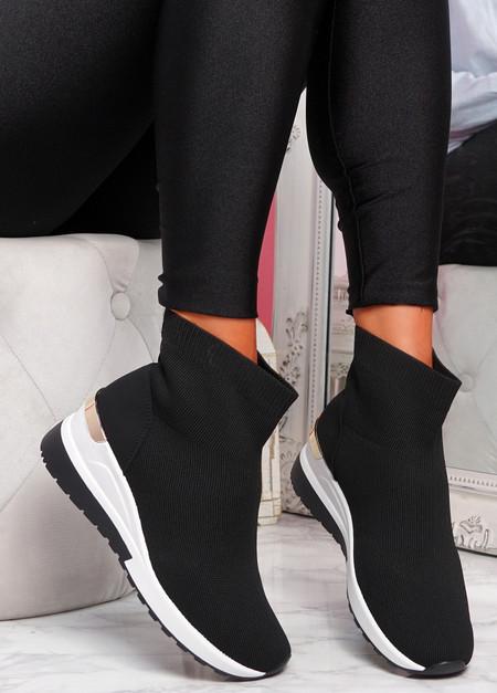 Goba Black Sock Sneakers