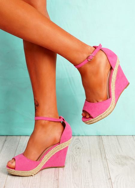 Tany Fuchsia Wedge Sandals