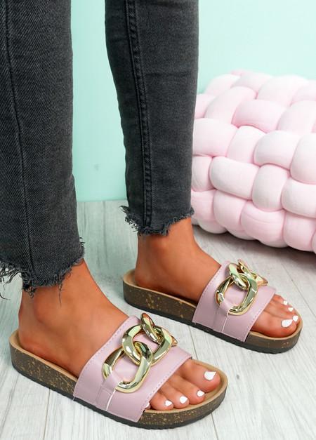 Samma Purple Platform Chain Sandals