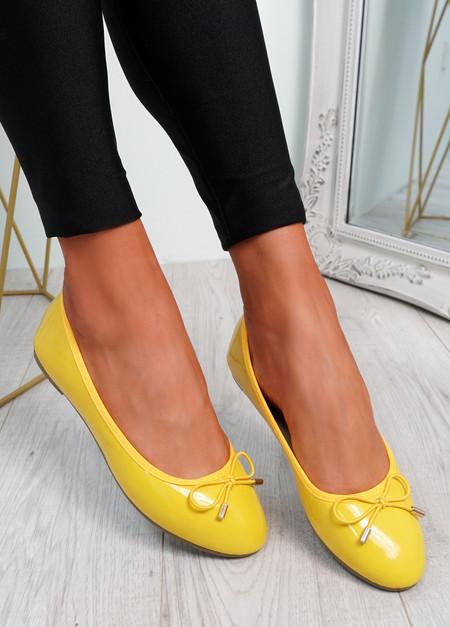 Tremo Yellow Slip On Ballerinas